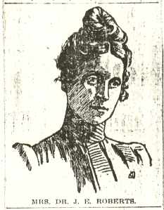 Newspaper drawing of Edith Wilson Roberts