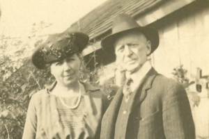 J. E. Roberts in later life with his fourth wife, Frances (Hynes Bacon) Roberts
