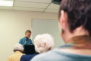 Dick Thomas reads at the event in 2013.  Photo by Susan Gomez