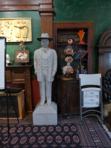A sample of the mix of art and artifacts inside Elks Lodge.